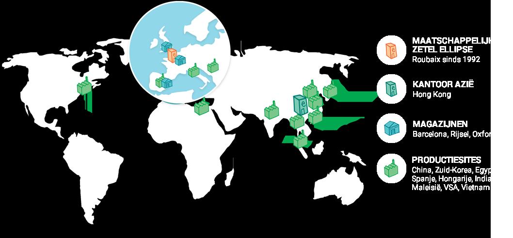 Wereldkaart Ellipse